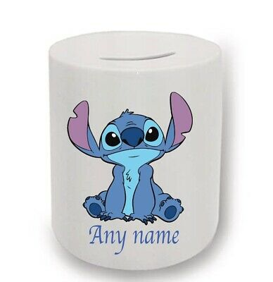 Stitch Money Box Can Be Personalised With Any Name • 6.50£