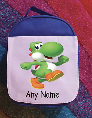 Personalised Super Mario Yoshi Lunch Bag Kids School Insulated Childrens • 14.99£