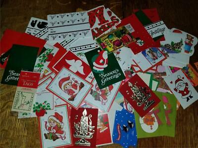 $ CDN1.30 • Buy Lot 200 Vintage Unused Christmas Holiday To From Gift Present Tags Cards