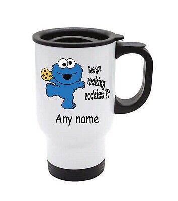 £13.99 • Buy Cookie Monster Travel Mug Can Be Personalised With Any Name