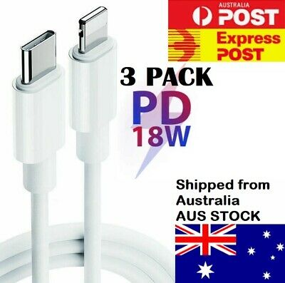 AU17.95 • Buy 3 X PD 18W MFi Certified Charging Type-C To Lightning Cable For Apple IPhone 12