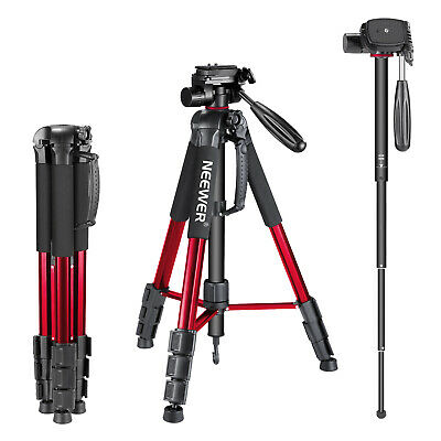 AU59.99 • Buy Neewer Red 70  Portable Aluminum Alloy Camera Tripod Monopod F Canon Nikon Sony