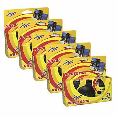 Novocolor – Disposable Cameras With Flash (27 Exposures With Flash) Pack Of 5 • 62.46£