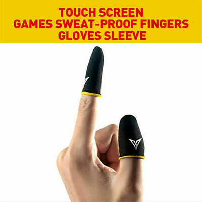 AU13.06 • Buy 2PCS Mobile Finger Sleeve Touch Screen Game Controller Sweatproof Gloves Gaming