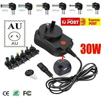 AU14.53 • Buy AU Universal Power Supply Adapter Converter 2A AC DC 3V 4.5V 5V 6V 7.5V 9V 12V