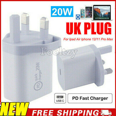 AU11.05 • Buy Wall Charger 20W Fast Power Adapter USB-C Plug For Ipad Air Iphone 12/11 Pro Max
