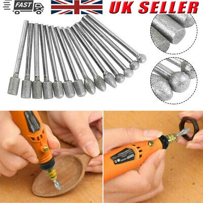 20Pcs/Set Steel Solid Carbide Burrs For Dremel Rotary Tool Bit Accessories Tools • 4.11£