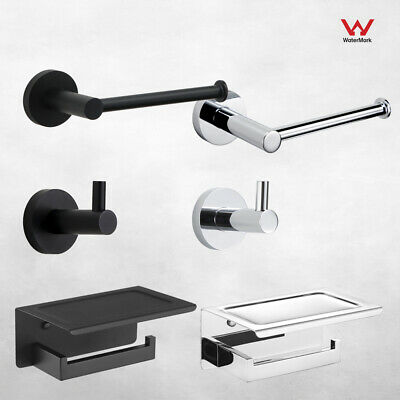 AU21.99 • Buy Wall Mounted Toilet Paper Roll Holder With/without Shelf Robe Hook For Bathroom