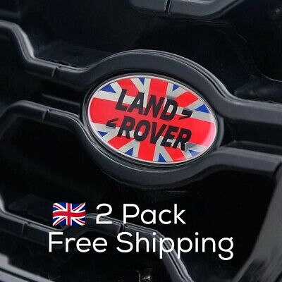 Land Rover Union Jack UK Flag Emblem 2 Pack Front And Back Range Rover Discovery • 12.99£