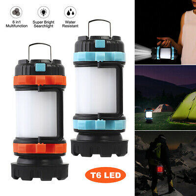 AU29.96 • Buy 6 Modes USB Rechargeable LED Camping Light Lantern Waterproof Portable Tent Lamp