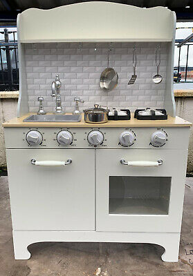 Deluxe Kids Toy Kitchen With Sounds  Large Wooden Cooker And Accessories • 69.99£