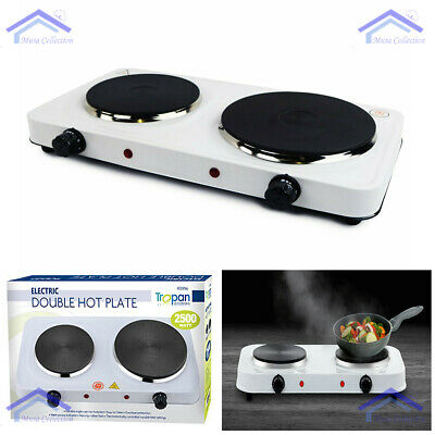 £20.98 • Buy New Portable 2.5KW Electric Double Twin Hot Plate Table Top Kitchen Cooker Stove
