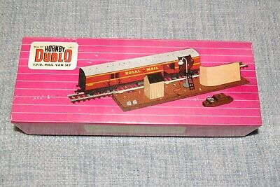 Hornby Dublo Royal Mail OO Mail Van Set  + Two Post Bags And Vintage Box • 35£