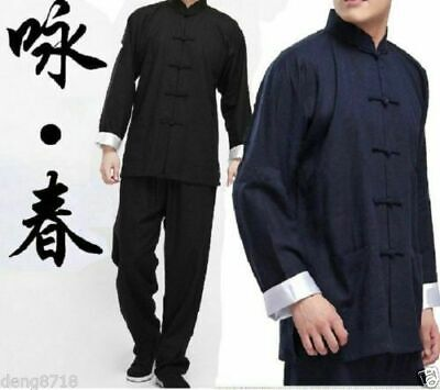 Kung Fu Wing Chun Tai Chi Martial Bruce Lee Arts Uniform Costume Suits Chinese • 34.19£