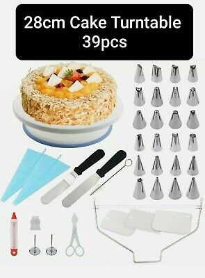 39 Pcs Cake Turntable Rotating Icing Decorating Revolving Kitchen Display Stand • 10.75£