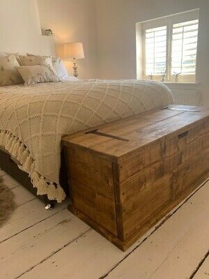£165 • Buy Large Solid Pine Quality Handmade Blanket Box/Toy Chest/Coffee Table