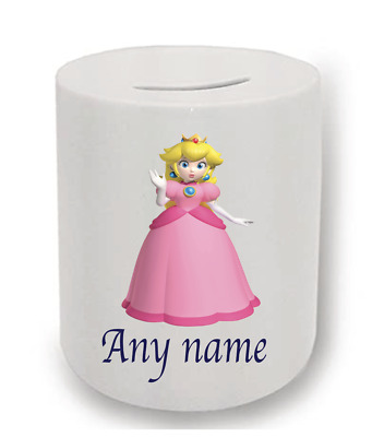 Super Mario Princess Peach Personalised Money Box • 6.50£