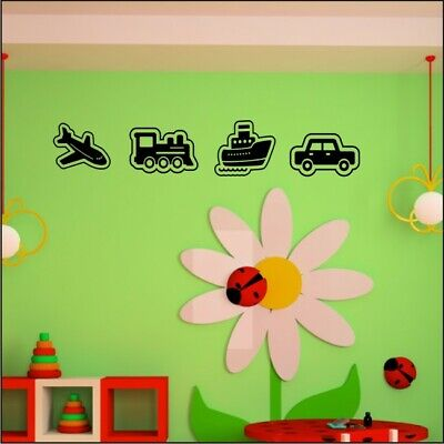 PLANE TRAIN BOAT CAR Wall Stickers Childrens Bedroom Wall Decals • 19.99£