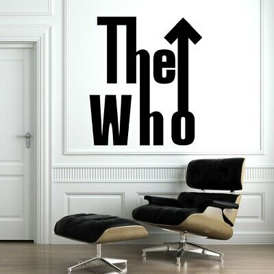 £17.99 • Buy THE WHO Wall Art Sticker Home Bedroom Large Timelord Design Doctor Matt Vinyl