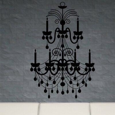 £10.85 • Buy CHANDELIER Wall Sticker Ceiling Fashioned Bedroom Lounge Vinyl Candle Stickers