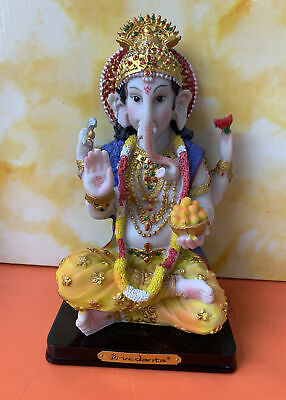 Diwali Pooja Home Decor Ganesha Statue Idol Murti Comes In A Box19cm Approx • 18.90£