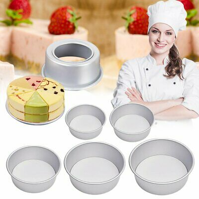 AU16.20 • Buy 4/5/6/8/10 Inch Cake Mold Round Cakes Pastry Mould Baking Tin Pan Reusable WS
