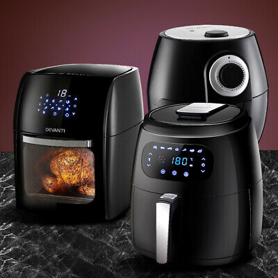 AU119.90 • Buy Devanti Air Fryer Electric Fryers Oil Free Healthy Cooker Kitchen Oven Airfryer