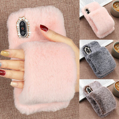 £6.25 • Buy Soft Warm Glove Plush Fluffy Case Cover Faux Fur For IPhone 12 XS 11 XR 8 7 Plus