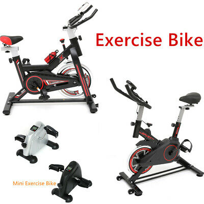 Spin Exercise Bike Indoor Aerobic Training Cycle Bicycle Home Fitness Workout UK • 199.89£