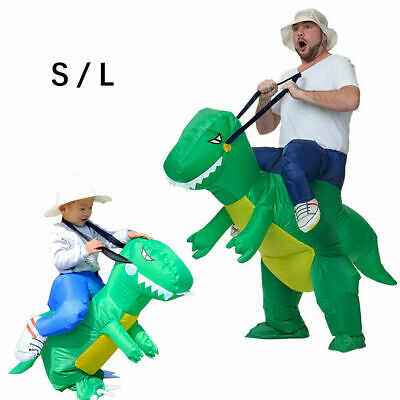 Halloween Inflatable Dinosaur Costume Jurassic Dress Blowup Outfit Adult Kids UK • 15.99£
