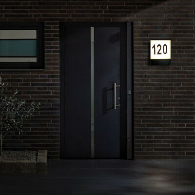£49.99 • Buy CGC Door House Number Sign LED Light Plaque Modern Illuminated Number Plate New