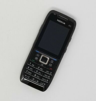 Nokia E51 2.0  3G 2MP - Symbian MobilePhone - Black Working Condition - Unlocked • 24.95£
