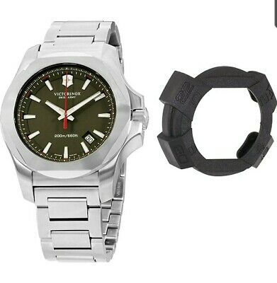 Swiss Army Victorinox I.N.O.X. Green Dial Stainless Steel Men's Watch • 199£