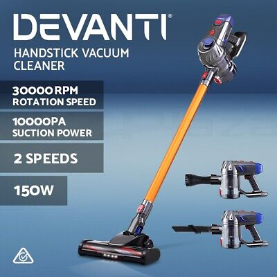 AU97.90 • Buy Devanti Handheld Vacuum Cleaner Cordless Stick Handstick Car Vac Bagless 2-Speed
