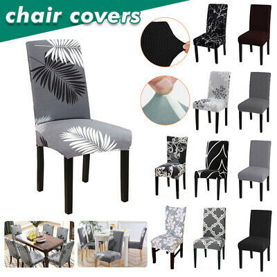 AU18.99 • Buy 1/2/6/8 Stretch Spandex Chair Covers Removable Slipcover Seat Cover Dining Party