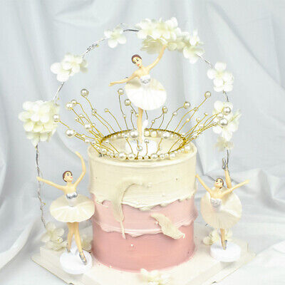 3pcs Ballet Girls Cake Toppers Collections Wedding Birthday Cake Decoration • 9.98£