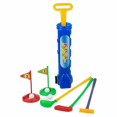 New Official Childrens Plastic Golf Set Outdoor Fun Golf Clubs Caddy • 8.99£