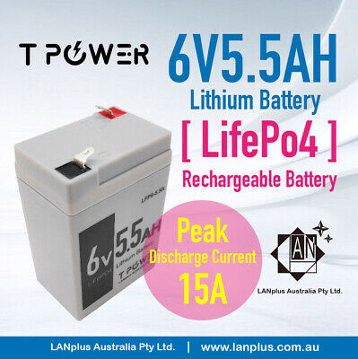AU45.99 • Buy 6V 5Ah LiFePO4 Lithium Rechargeable Battery For Electric Scale > 6v 4.5ah 4.0ah