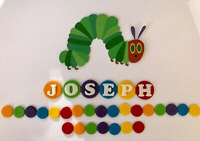 The Very Hungry Caterpillar Personalised Edible Cake Topper Decoration. • 7.99£