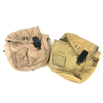 $ CDN25.02 • Buy 2 Military 2 Quart Canteen Pouches Desert Tan ALICE Insulated Carrying Pouch