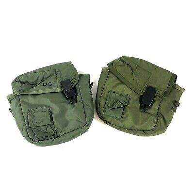 $ CDN25.02 • Buy 2 Military 2 Quart Canteen Pouches OD Green ALICE Insulated Carrying Pouch