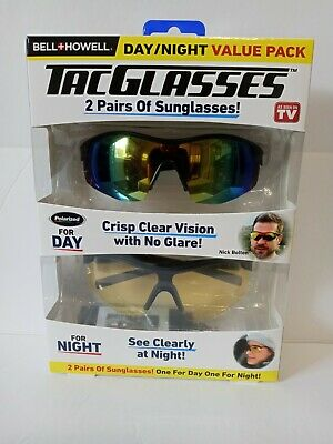AU38.29 • Buy Bell + Howell Tac Glasses 2 Pairs ( Day & Night) Value Pack.