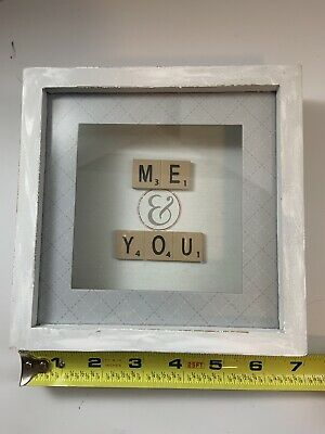 """Me & You  Wall Decor By New View Gifts & Accessories - 7""""square Sits Tabletop • 10.31£"""
