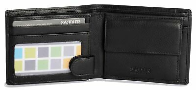 SADDLER Mens Genuine Leather 3 Card Billfold Wallet With ID Window & Coin Pur... • 53.12£
