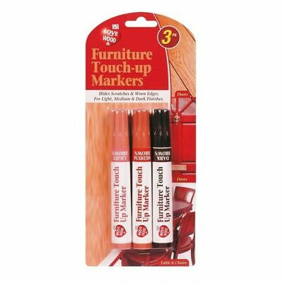 £2.49 • Buy Furniture Touch Up Pen Markers Remove Scratches Laminate Wood Floor Repair X3