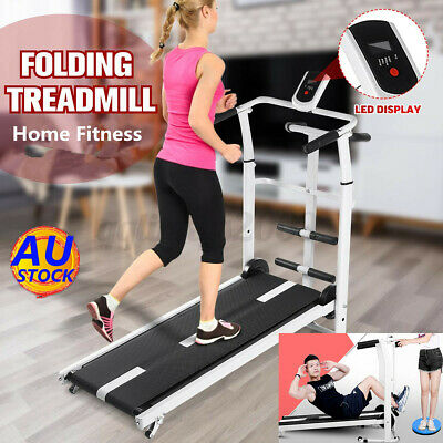 AU208.99 • Buy 3 In 1 Folding Treadmill Lcd Home Gym Walking/steps Sit-up Exercise Machine Au