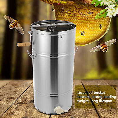 AU172.89 • Buy 25*45CM Stainless Steel Manual 2 Frames Honey Extractor Shaker With Honey Mouth