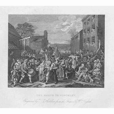 £9.95 • Buy WILLIAM HOGARTH The March To Finchley - Antique Print 1861