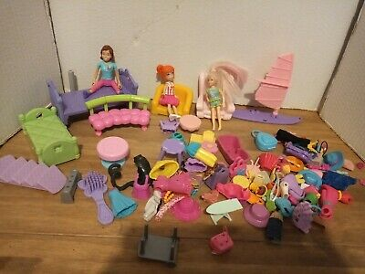 Polly Pocket Clothes Bundle Dolls And Accessories • 6.50£