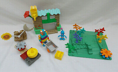 Lego Little Robots 7437 Gardening With Stripy & 7435 Tiny's Day & Night Lever • 35£
